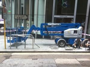 摺臀升降台 13M Genie Z45中區名商業大廈雲咸街 8 號