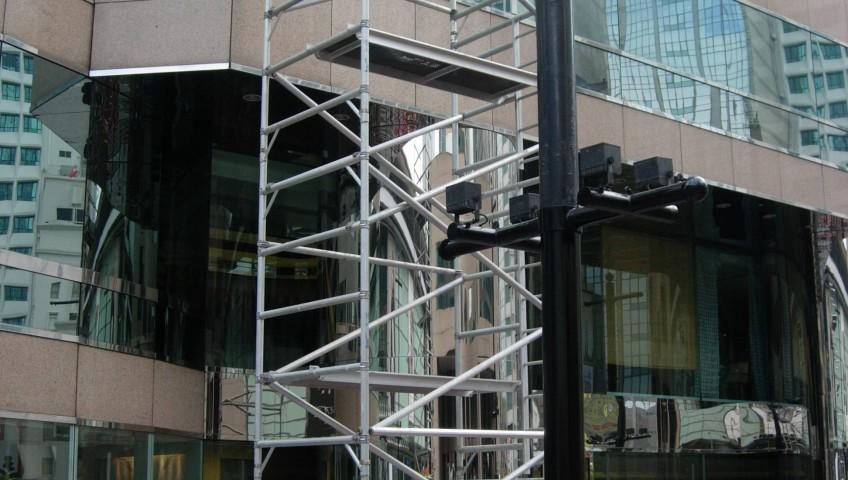 鋁合金高空工作台 - 中環交易廣場 (2)