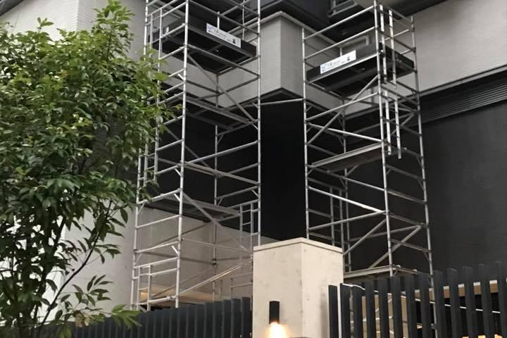 啟德一號 -9-10M 鋁合金工作台 於花槽及斜路上